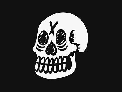 Self Portrait blackwork tattoo chicago graphic design scoundrel hand drawn grunge illustration skull
