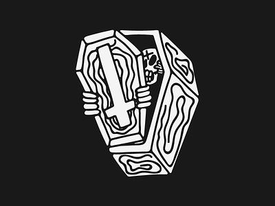 I Hate Insomnia graphic design vintage grunge hand drawn scoundrel chicago skull art skull illustration