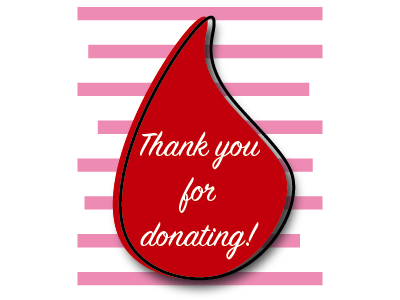 Blood Drive Thank You design illustrator cc