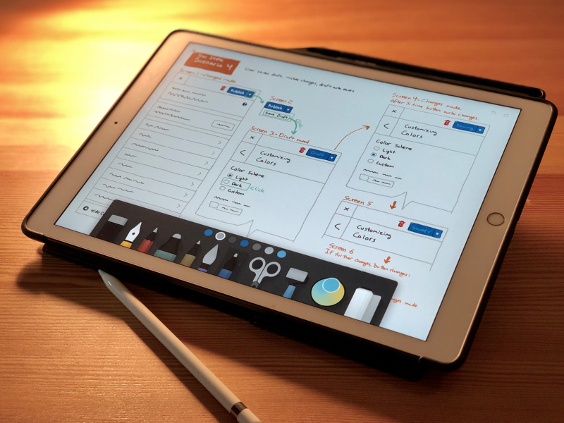 Sketching a flow for WordPress Save/Publish wireframe ipad sketches ux wordpress