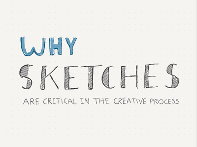 Why sketches are critical