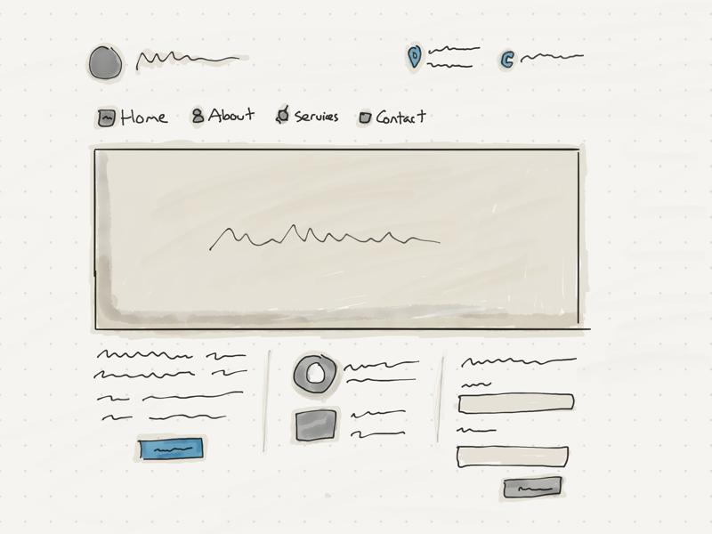 Homepage sketch homepage sketch ipad sketching wireframe sketch