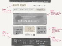 Homepage sketch