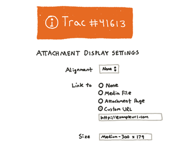 Attachment settings sketch application interface product design wireframe sketches wordpress ui