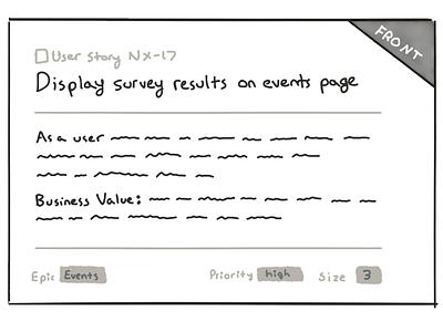 User story sketch user story scrum agile sketch