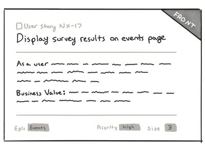 User story sketch