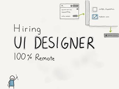 We are hiring! ui designer hiring