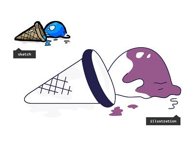 Ice Cream not found vector illustration