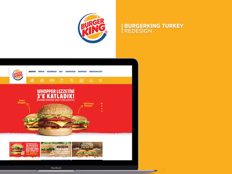 Burger King Redesign design interface ui redesign site burgerking