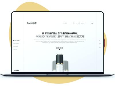 Swisscell UK - Landing Page swiss flat landing sketch photoshop user interface web design ui design