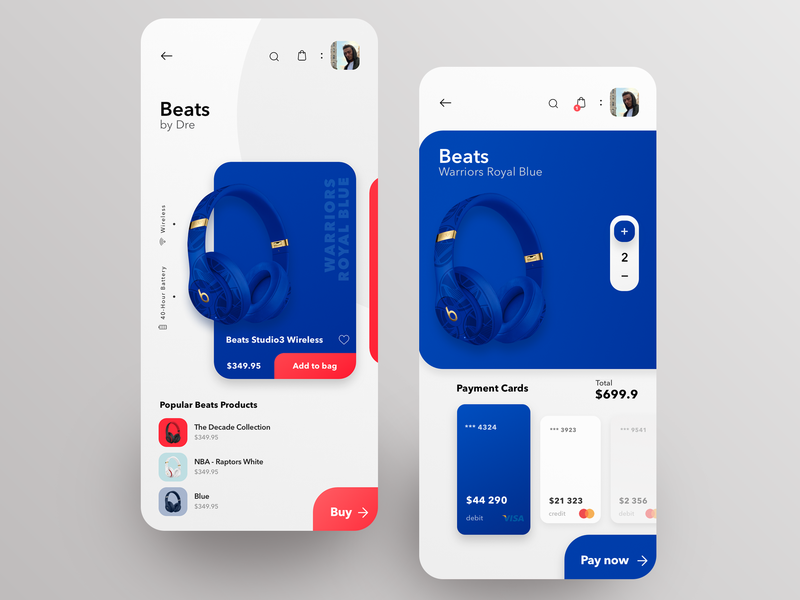 Beats Mobile App - Concept Design flat ios ux app design headphone music design app mobile ui sketch beats