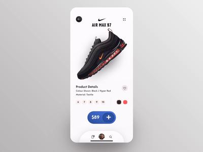 Nike Air - Concept Shopping design concept animation application app mobile ux ui air shopping shop shoes nike