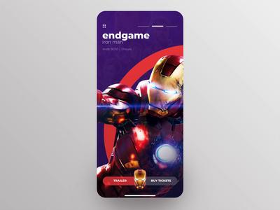 Avengers Endgame Concept app photoshop ux animation transition ironman thanos avengers mobile design ui