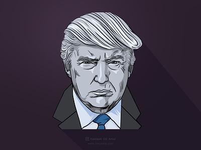 Donald Trump Cartoon fine art logo design sketching branding comic art art illustration cartoon illustration