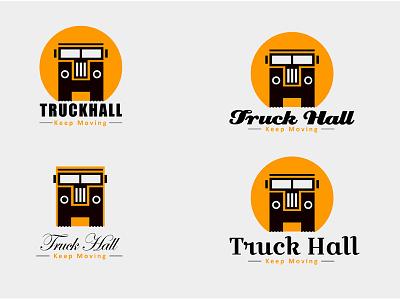 Truck Hall Logo character design sketching comic art art illustration game design game development uiux mobile application branding keep moving logo design