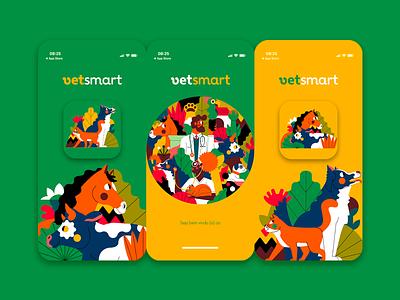 VETSMART (app) /UI animal kingdom animal illustration veterinary ui design flat ui flat illustration brazil vector jhonny núñez ilustración illustration