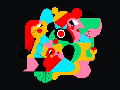 HERO ILLUSTRATION color palette vector jhonny núñez ilustración illustration