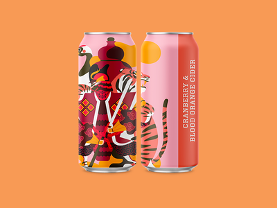 Cranberry & Blood Orange Cider packaging illustration surface illustration brewery packaging cider collective art brewring mockup jhonny núñez ilustración illustration