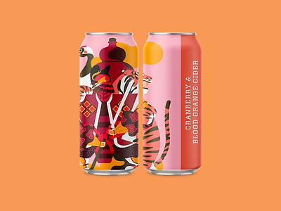 Cranberry & Blood Orange Cider packaging illustration surface illustration brewery packaging cider collective art brewring mockup jhonny núñez ilustración illustration