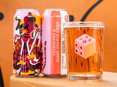 Cranberry & Blood Orange Cider packaging cider brewering collective art brewing collective art brewing jhonny núñez ilustración illustration