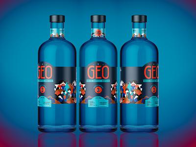 GEO productshoot bottle label design packaging design packaging jhonny núñez ilustración illustration