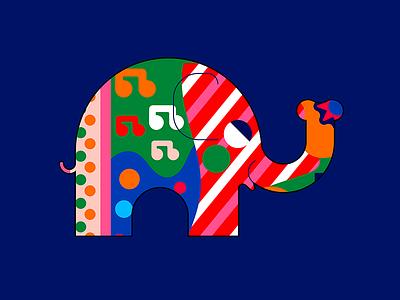 2021´s  SPIRIT elephant color palette vector jhonny núñez ilustración illustration