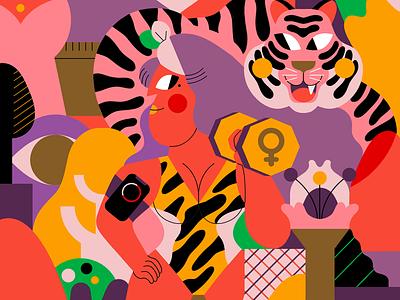 INTERNATIONAL WOMEN DAY women international women day vector jhonny núñez ilustración illustration