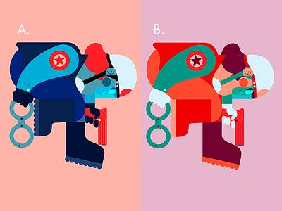 A or B? color palette jhonny núñez ilustración illustration