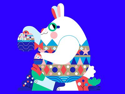 EASTE EGG character design easter rabbit easter egg easter vector jhonny núñez ilustración illustration