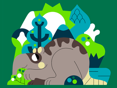 ANIMAL character design flat vector color palette jhonny núñez ilustración illustration
