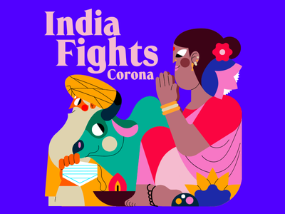 INDIA DIGHTS CORONA india color palette vector jhonny núñez ilustración illustration