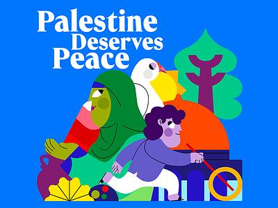 FREE PALESTINE freepalestine palestine color palette vector jhonny núñez ilustración illustration