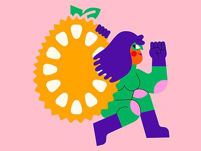 Adobe CoCreate: Ting's Jackfruit Chips branding chips jackfruit tings charater design cocreate adobe jhonny núñez illustration