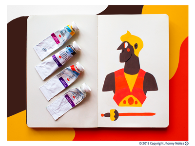 DIGITAL DETOX arte art diseño de personaje character design gouache pintura paint acrilic ilustración illustration