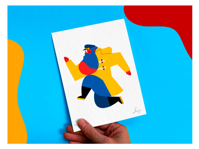 ARE YOU READY FOR MY GIVE AWAY? featured artisit on dribbble best on dribbble colombia color give away postcard print printing graphic design flat vector character design ilustración jhonny núñez illustration