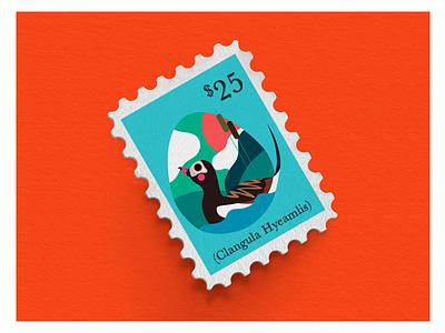 AVILLOARY philately ornitology pato duck aves bird stamp mail post estampilla product shot flat jhonny núñez ilustración illustration