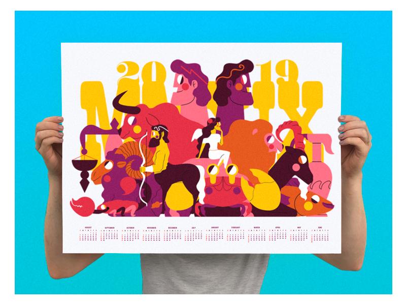 Calendario Zodiacal.Calendario Zodiacal 2019 By Jh Nny Nunez On Dribbble