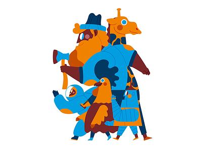 PUPPET PARADE ilustración illustration
