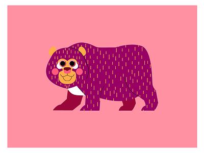 OSO DE ANTEOJOS flat vector oso bear character design jhonny núñez ilustración illustration