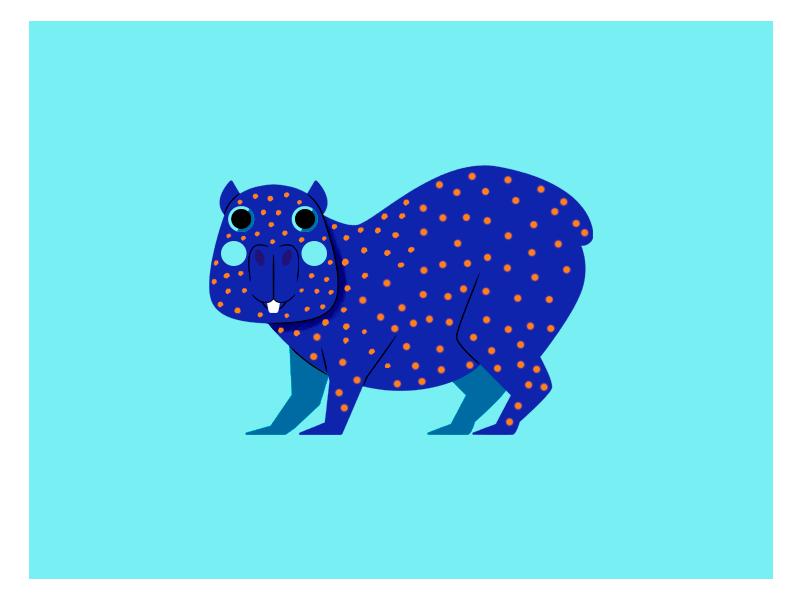 CHIGÜIRO colombia vector flat character design jhonny núñez ilustración illustration