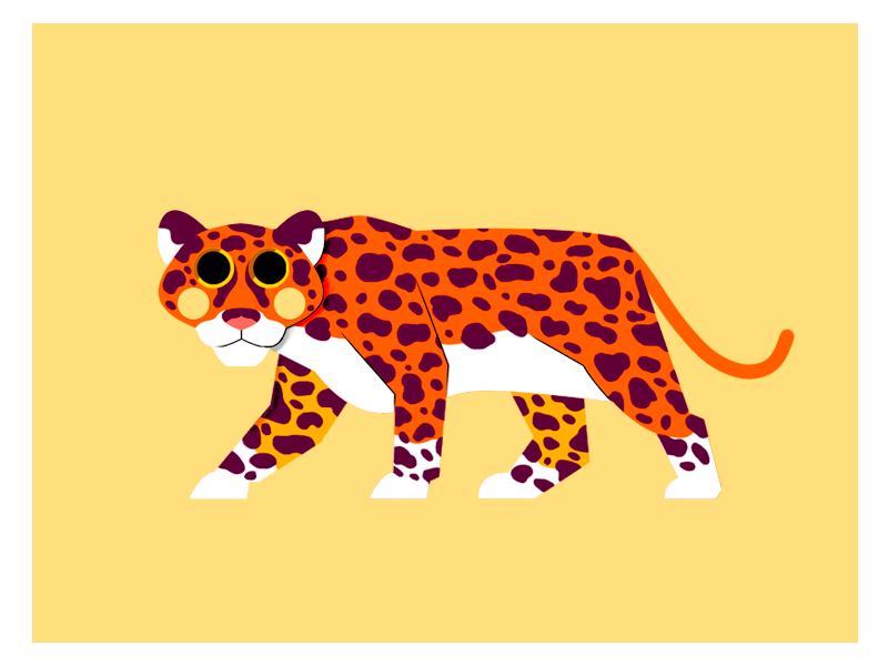 JAGUAR animal jaguar vector flat character design jhonny núñez ilustración illustration
