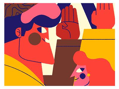 KARATE VICTORINOX color palette jhonny núñez ilustración illustration