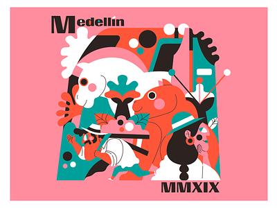 MEDELLÍN MMXIX medellin colombia ilustración illustration