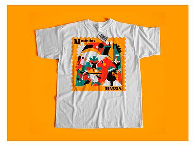 MEDELLÍN T-SHIRT mockup camiseta tshirt colombia medellin flat color palette vector jhonny núñez ilustración illustration