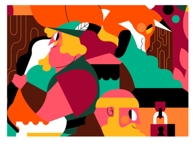 ROBIN HOOD illustration art banner design illustration art director design zorro fox robin hood illustration style illustration art illustrations illustration system flat color palette vector jhonny núñez ilustración illustration illustrator