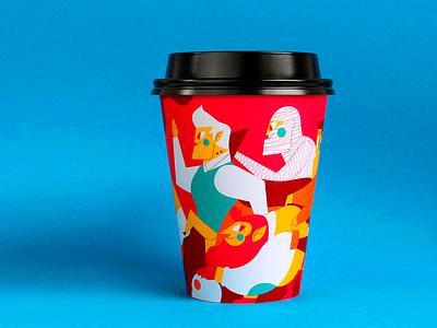OCTOBER COFFEE ILLUSTRATION SHOW packaging graphic design jhonny núñez coffee ilustración illustration