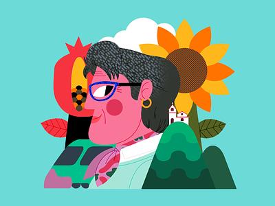 CLAUDIA LOPEZ colombian colombia flat graphic design color palette vector character design jhonny núñez ilustración illustration