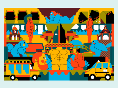 MEDELLÍN CITY jhonny núñez graphic design ilustración illustration