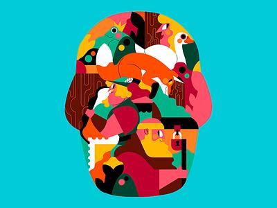 DUAL mexico dual colombian flat color palette jhonny núñez ilustración illustration