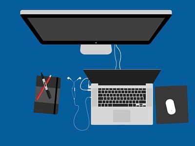 Workspace illustrator workspace illustration creative design